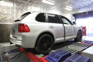 Cayenne Turbo on dyno
