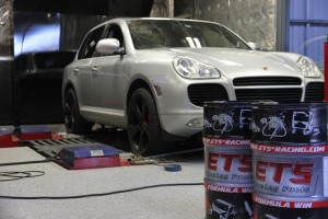 Cayenne Turbo on dyno with ETS fuel