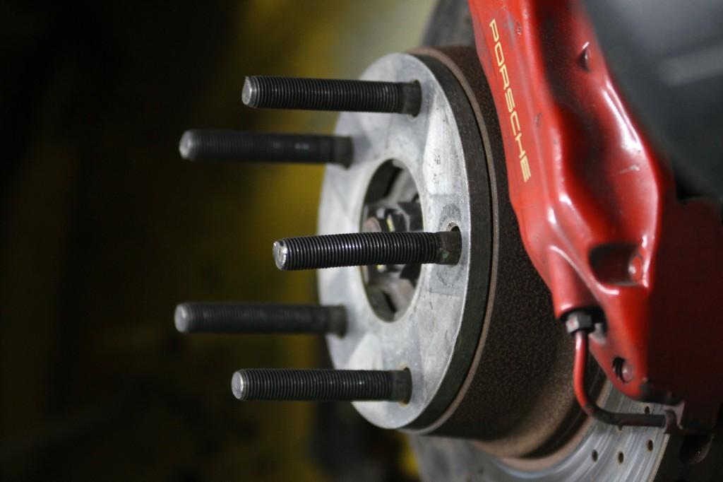 Bent wheel studs